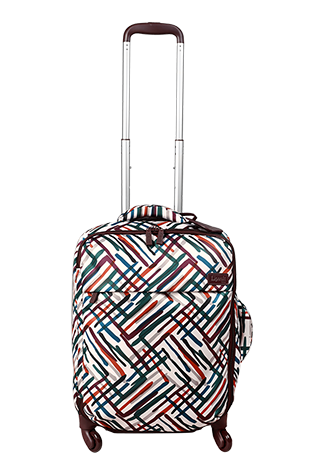 Lipault Draw The Fall Cabin Luggage 4 Wheels 55cm  Chevron/Wine/Green