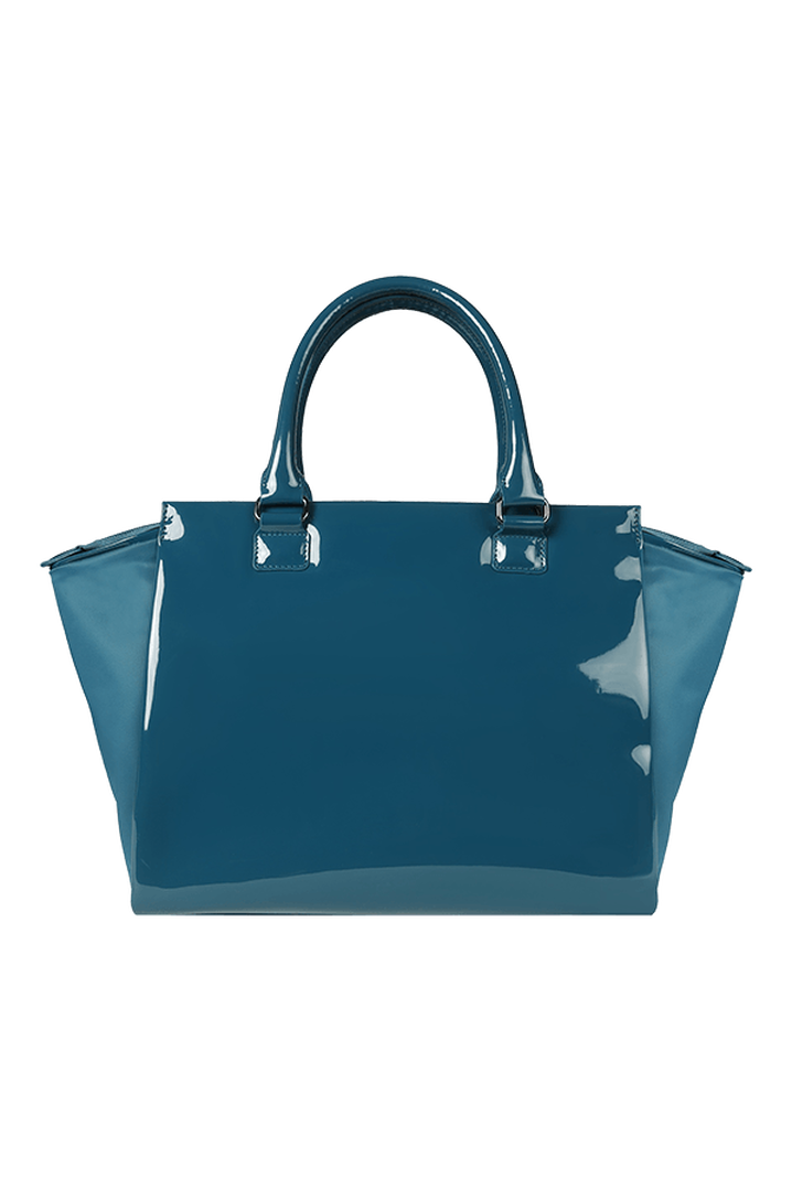 Plume Vinyle Satchel Bag M Duck Blue | 6