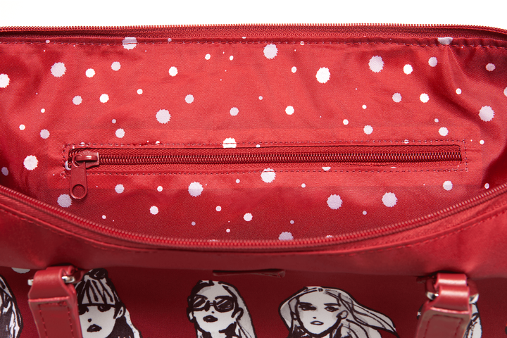 Izak Zenou Collab Shopping bag M Pose/Garnet Red   4