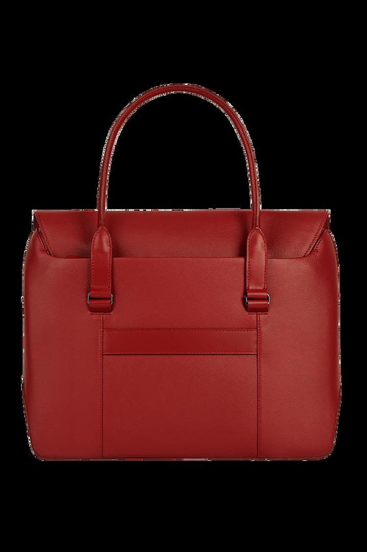 Plume Elegance Briefcase Ruby   2