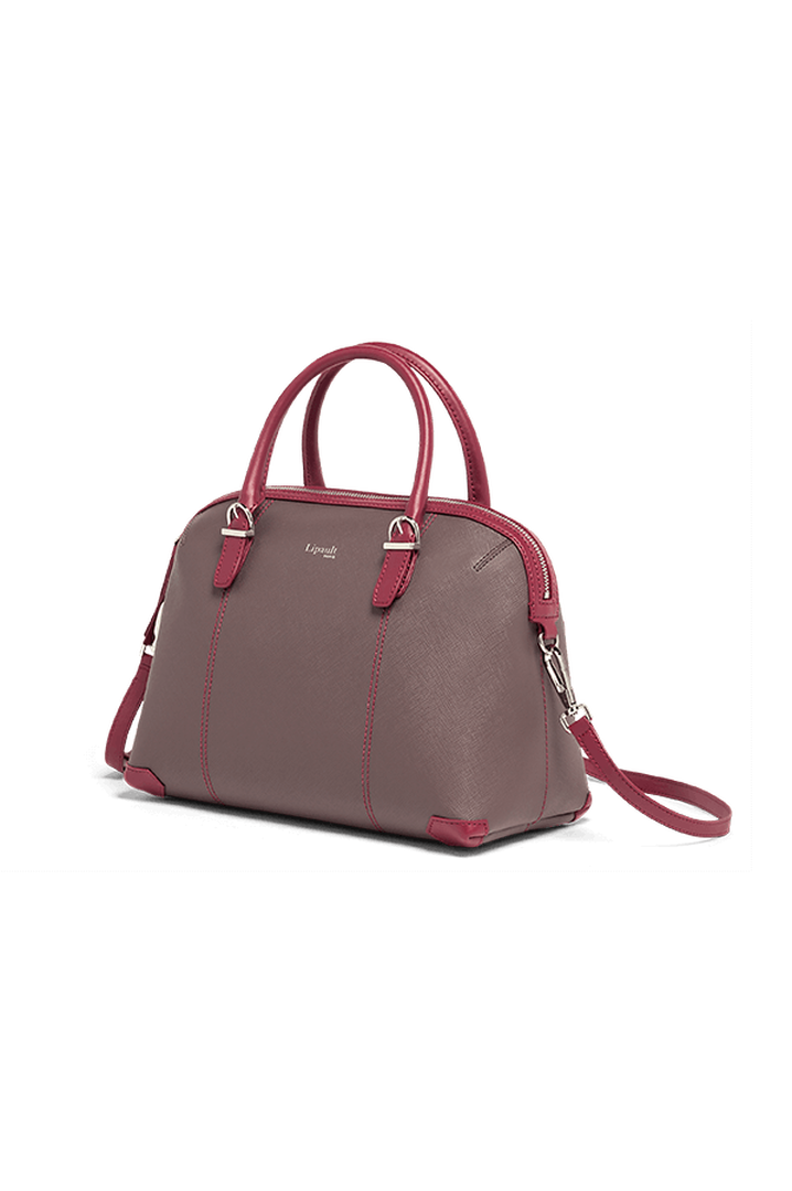 Variation Boston bag Grey/Raspberry   4