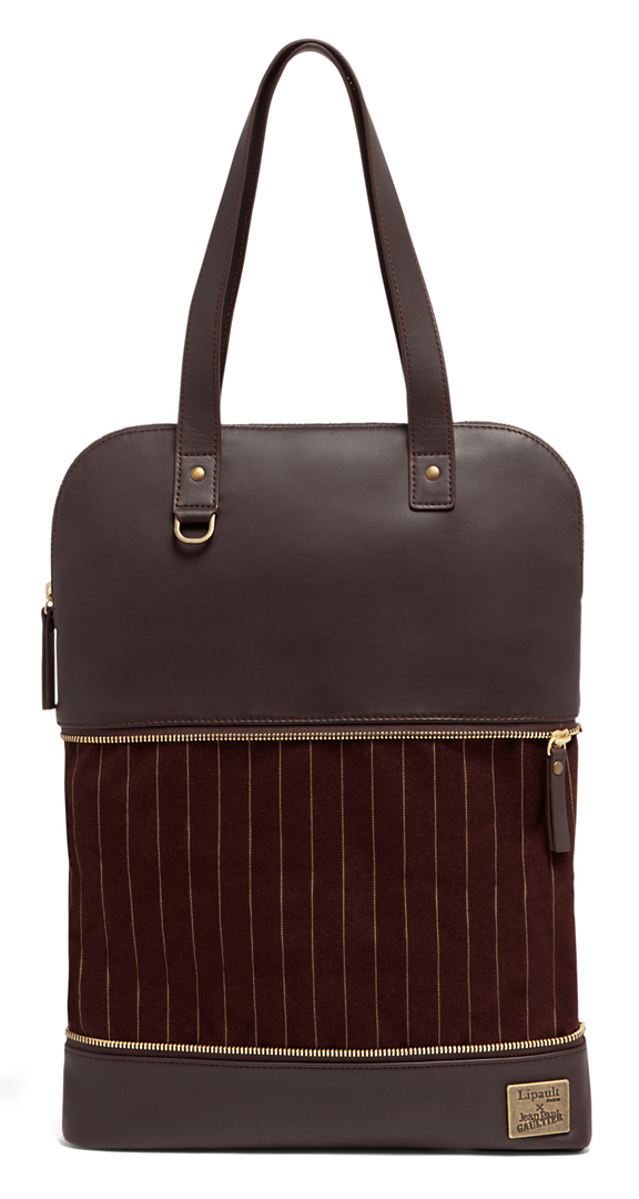 J.P. Gaultier Collab Swing Shopper Bag Burgundy | 5