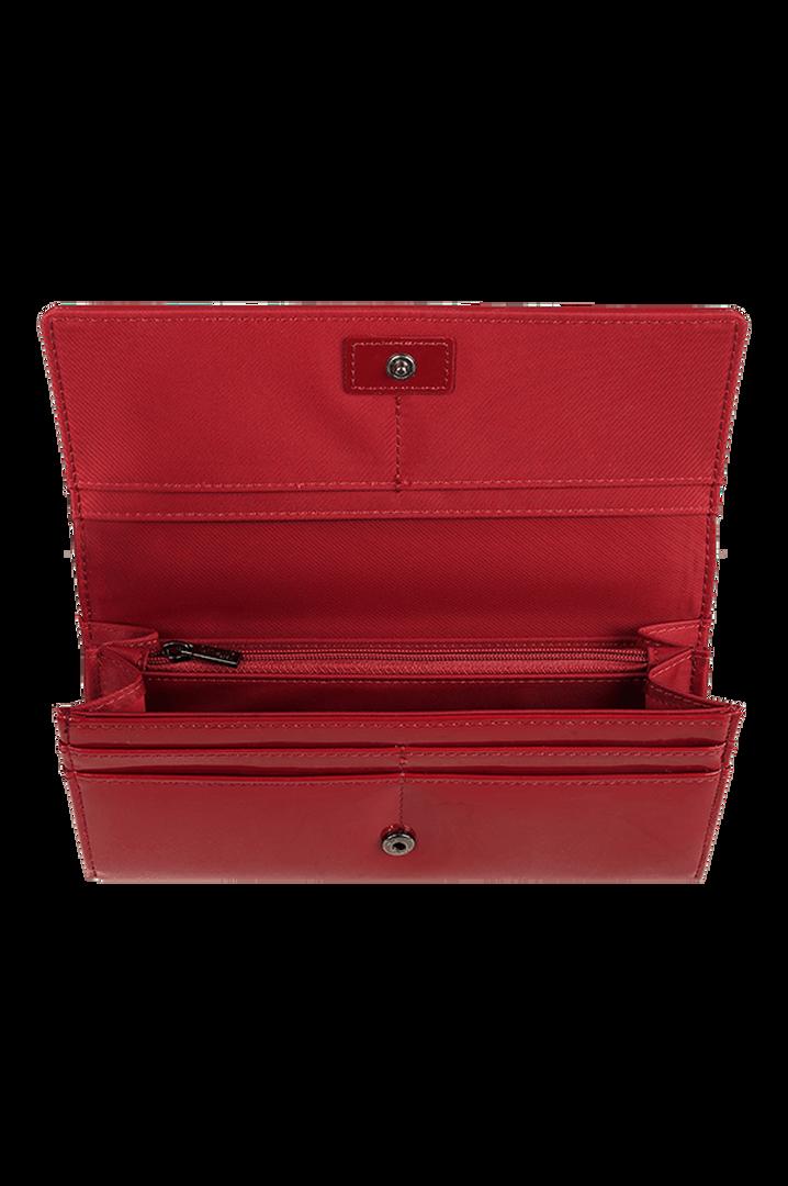 Plume Vinyle Wallet Ruby   2