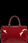 Plume Vinyle Duffle Bag M Ruby