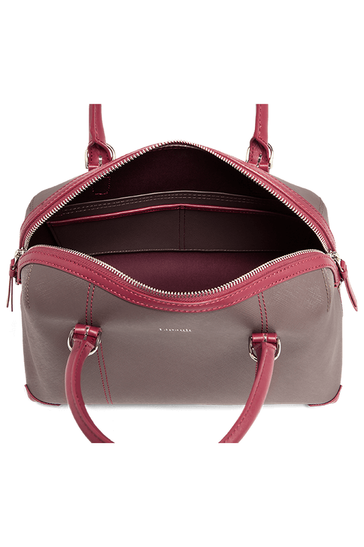 Variation Boston bag Grey/Raspberry   2