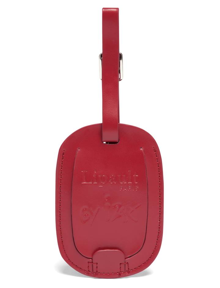 Izak Zenou Collab Luggage Tag Pose/Garnet Red | 2