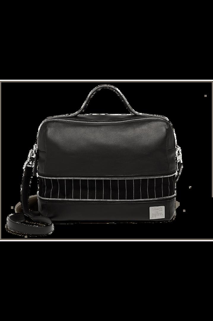 J.P. Gaultier Collab Compil Boston Bag Black   5