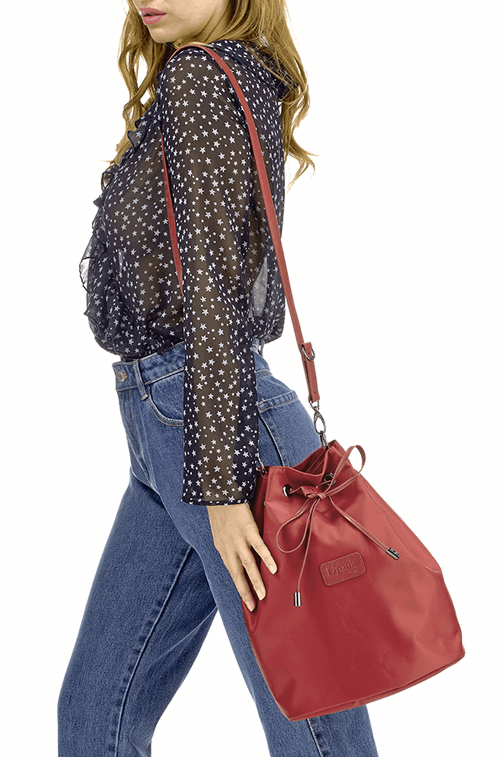 Lady Plume Bucket Bag M Ruby | 3