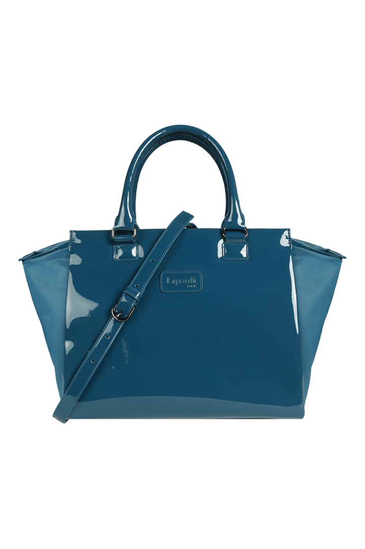 Plume Vinyle Satchel Bag M Duck Blue | 1