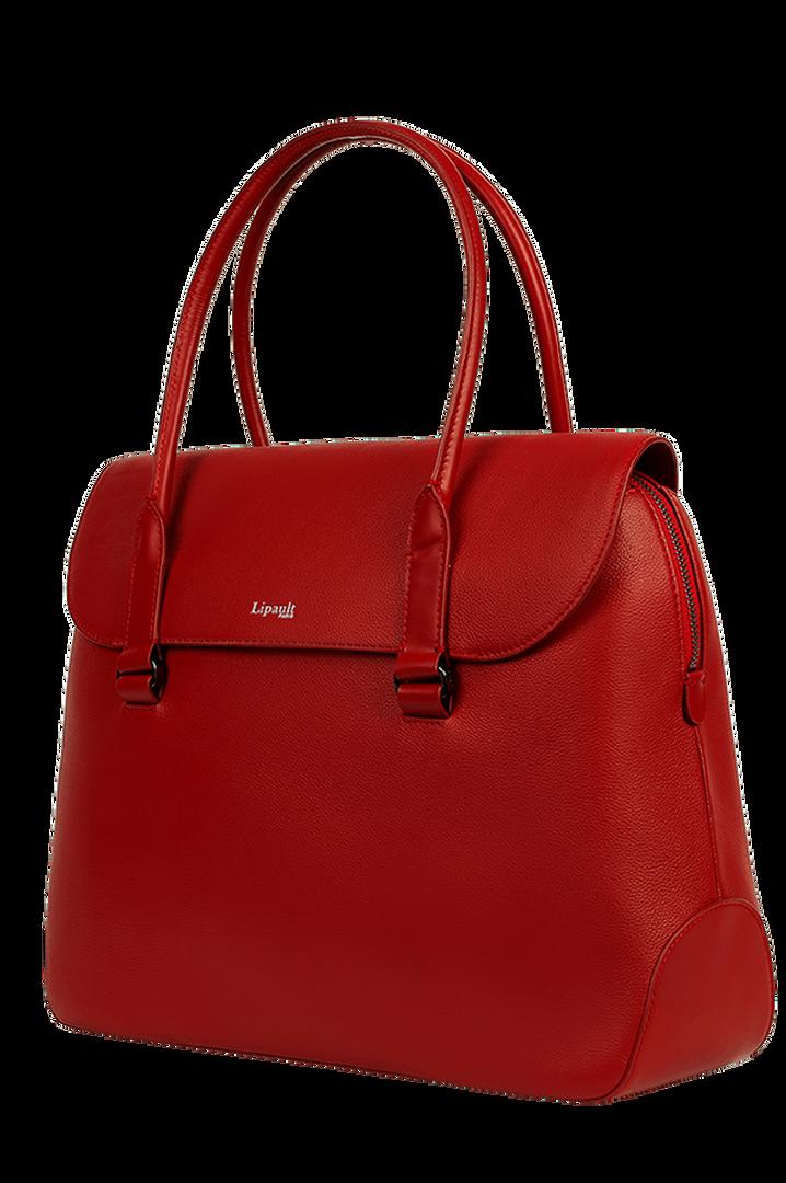 Plume Elegance Briefcase Ruby   3