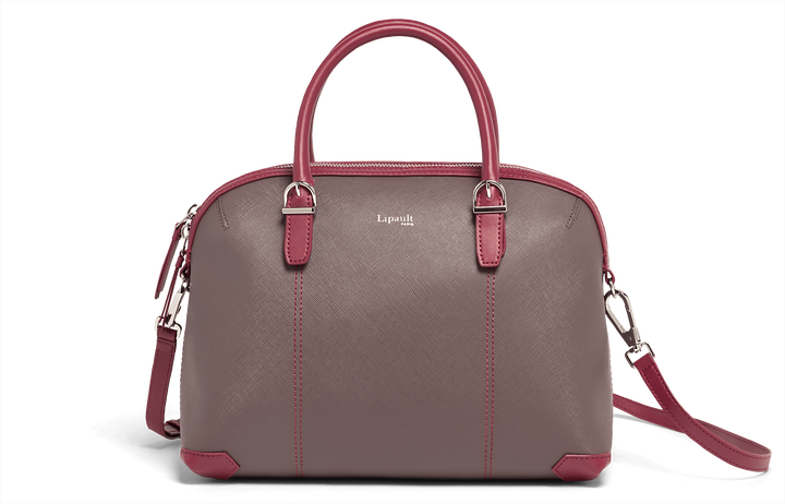 Variation Boston bag  Grey/Raspberry | 1