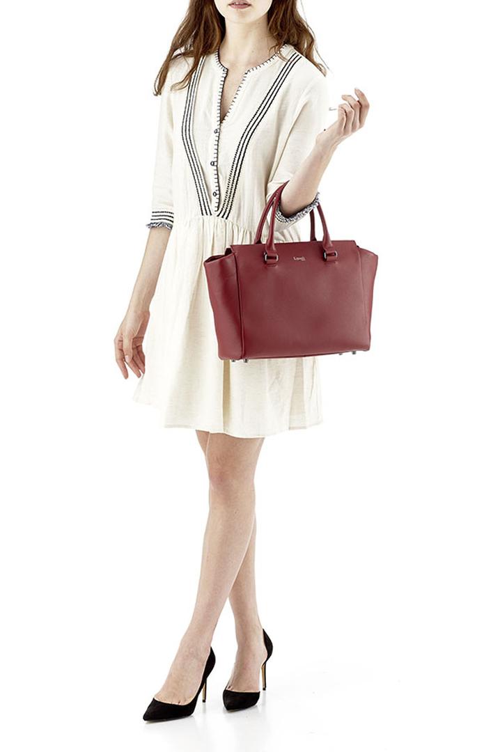 Plume Elegance Satchel Bag Ruby | 3