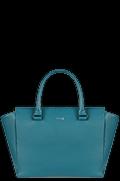 Plume Elegance Satchel Bag Duck Blue