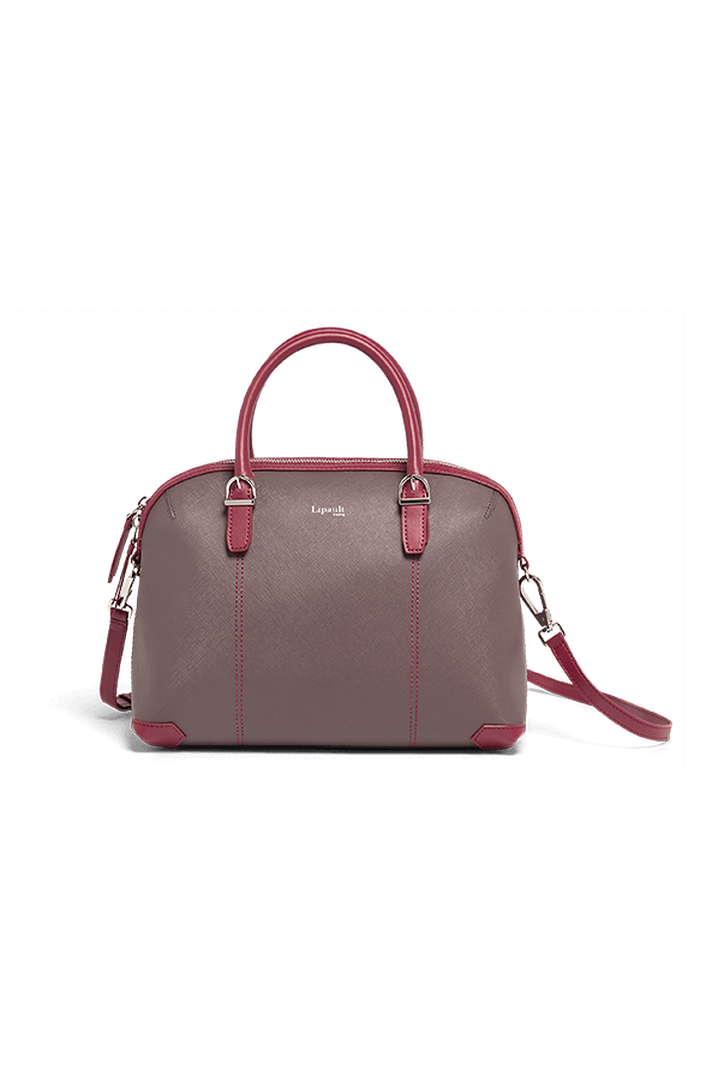 Variation Boston bag Grey/Raspberry   1