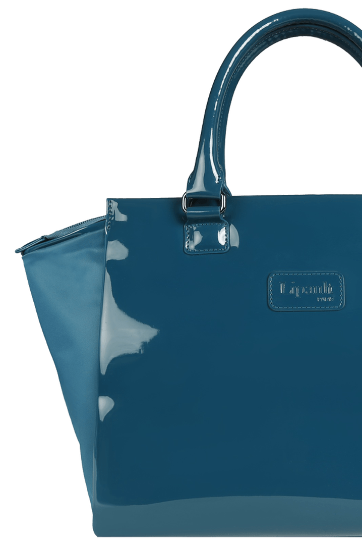 Plume Vinyle Satchel Bag M Duck Blue | 5