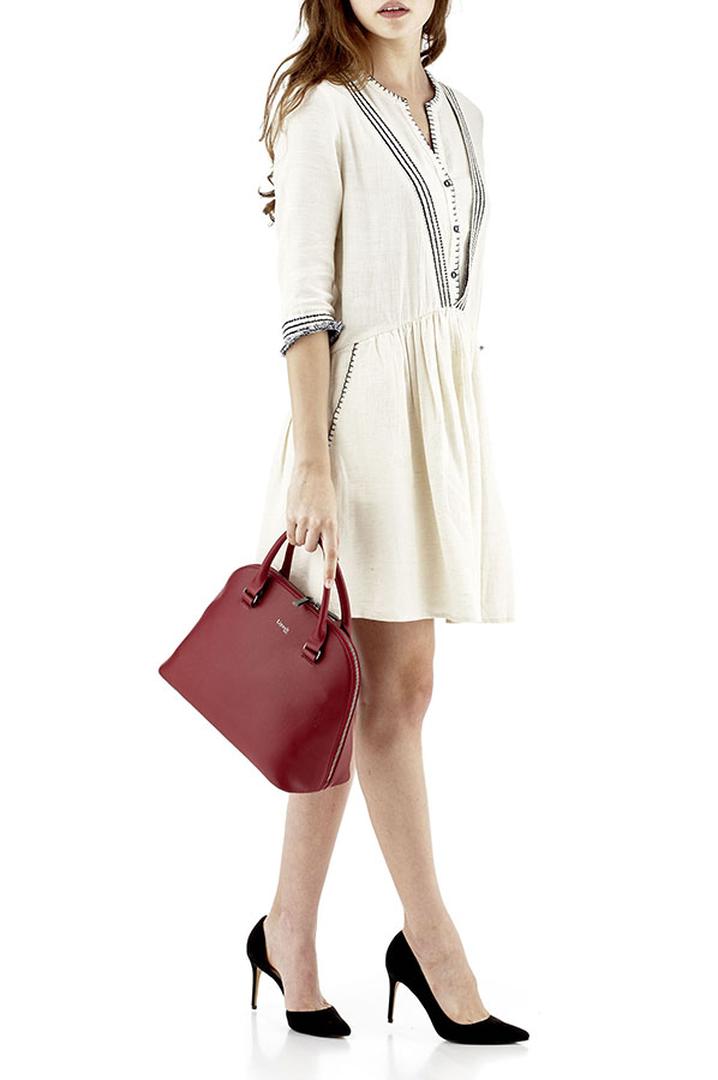 Plume Elegance Handbag M Ruby   3
