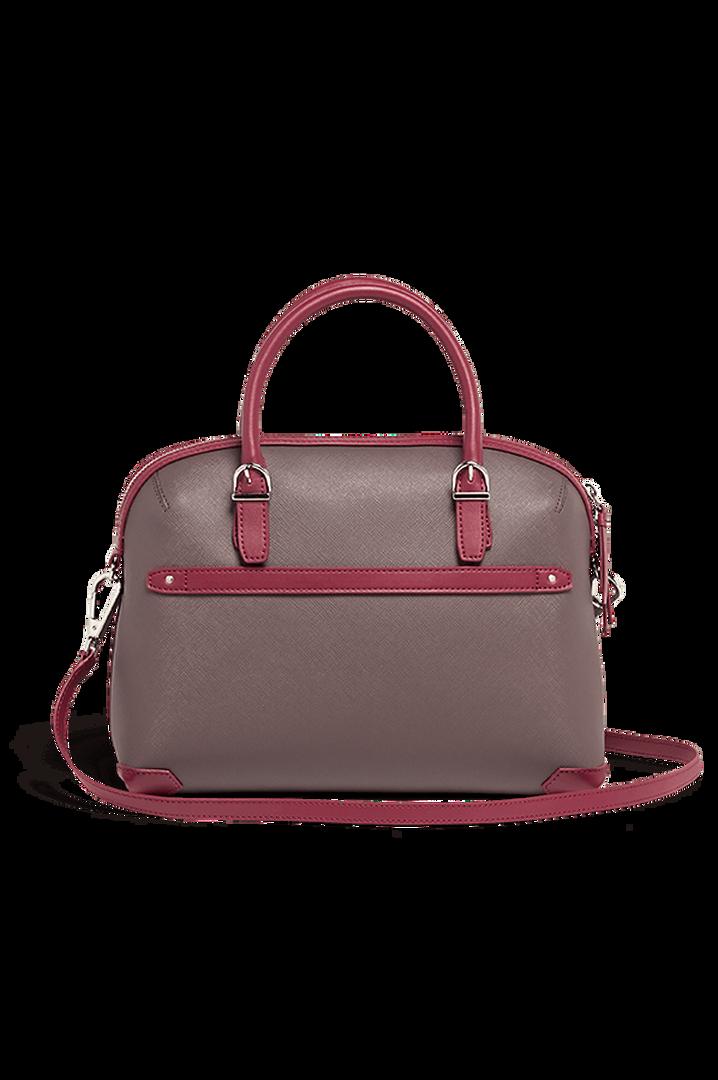 Variation Boston bag Grey/Raspberry   3