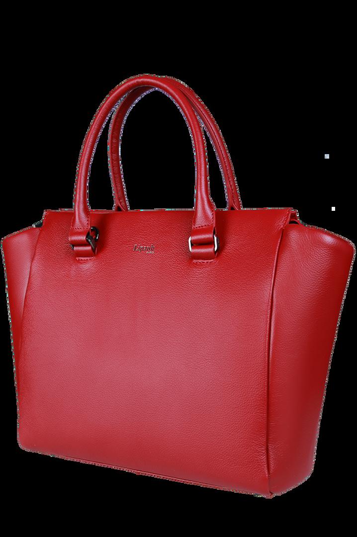 Plume Elegance Satchel Bag Ruby | 7