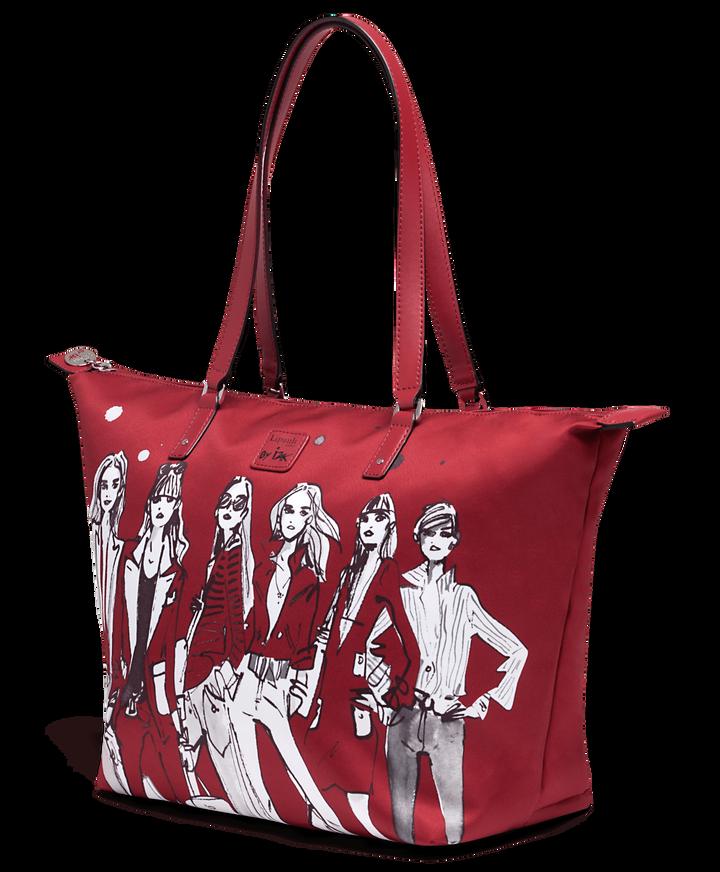 Izak Zenou Collab Shopping bag M Pose/Garnet Red   3
