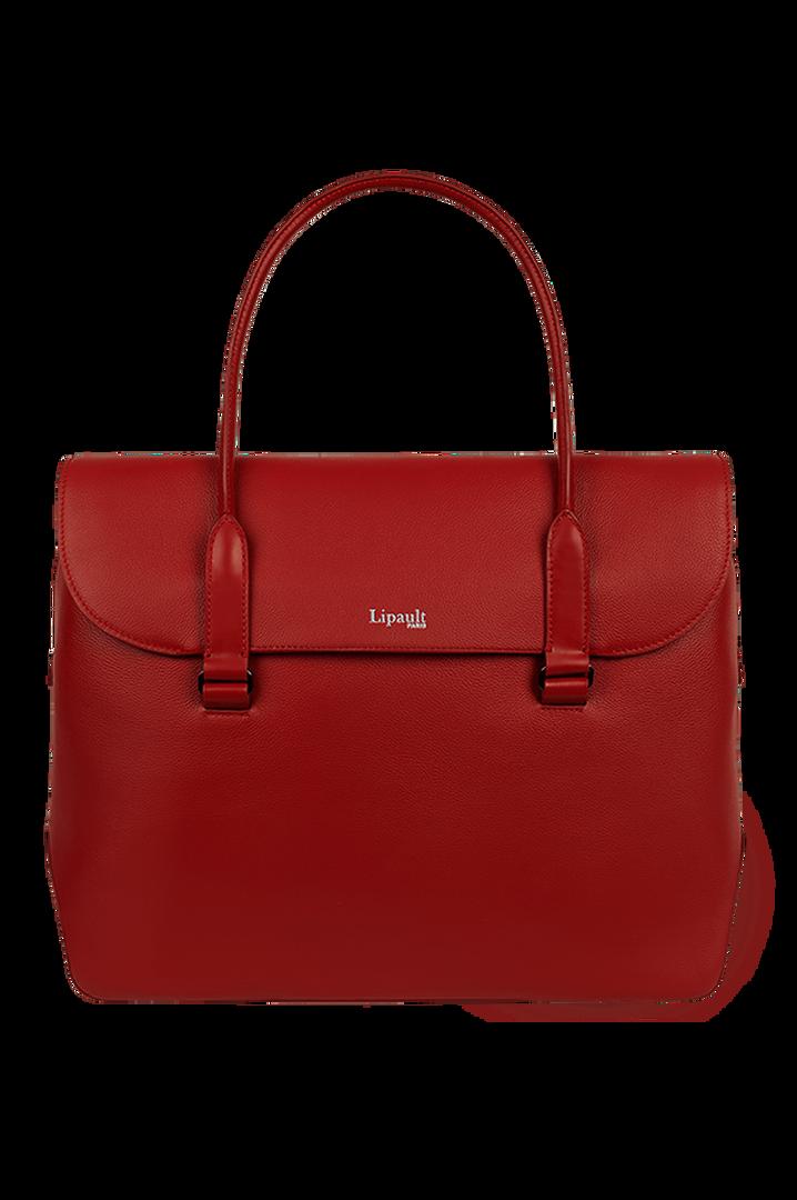 Plume Elegance Briefcase Ruby   1