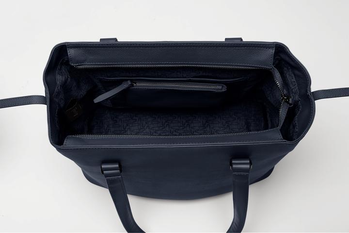 Plume Elegance Shopping bag L Navy | 5