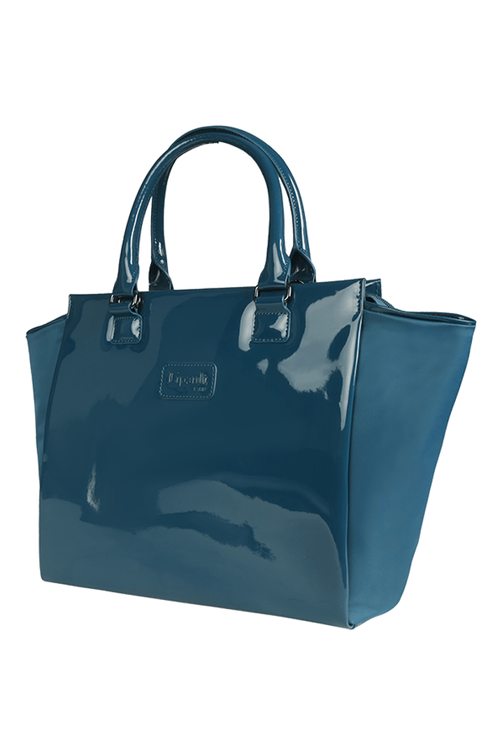 Plume Vinyle Satchel Bag M Duck Blue | 7