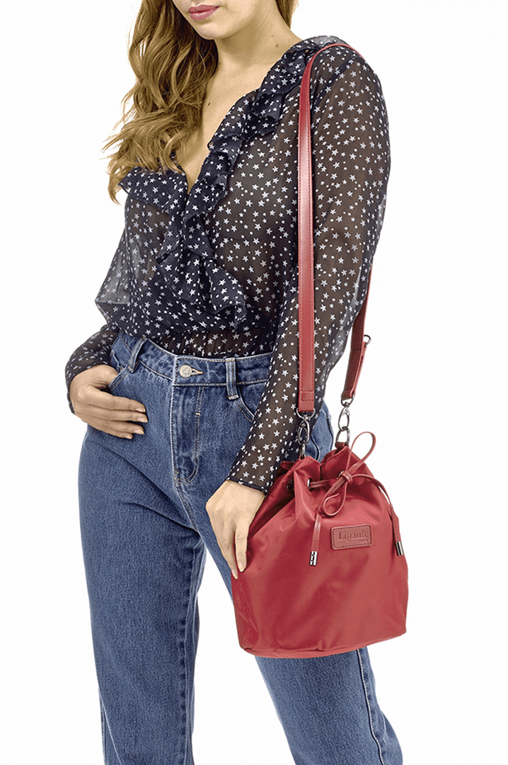 Lady Plume Bucket Bag S Ruby | 3