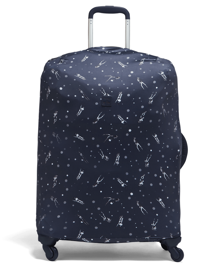 Izak Zenou Collab Luggage Cover M Pose/Night Blue | 1