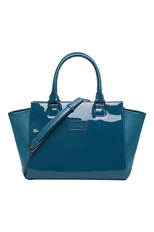 Lipault Plume Vinyle Satchel Bag S Duck Blue